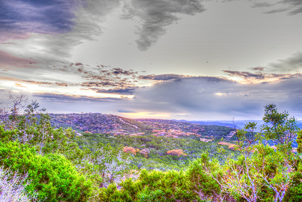 Scenic Overlook in Texas Hill Country near Leakey Texas