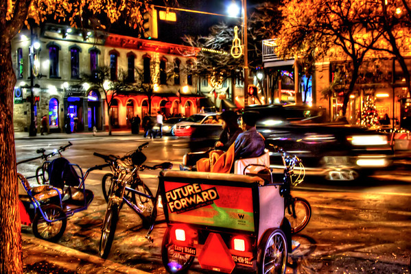 Pedicab, 6th Street,  Austin Texas