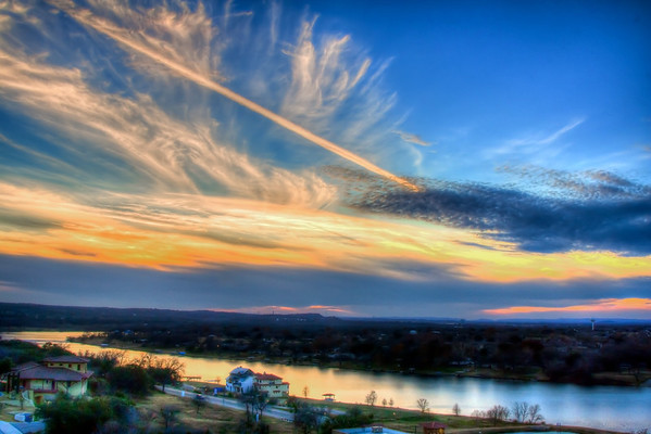 Sunset at Marble Falls, 2014, #5